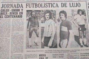 Cuando Colón, Unión, River y Boca jugaron un cuadrangular en Santa Fe