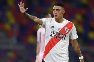 El delantero de River Matías Suárez es duda para enfrentar a Colón