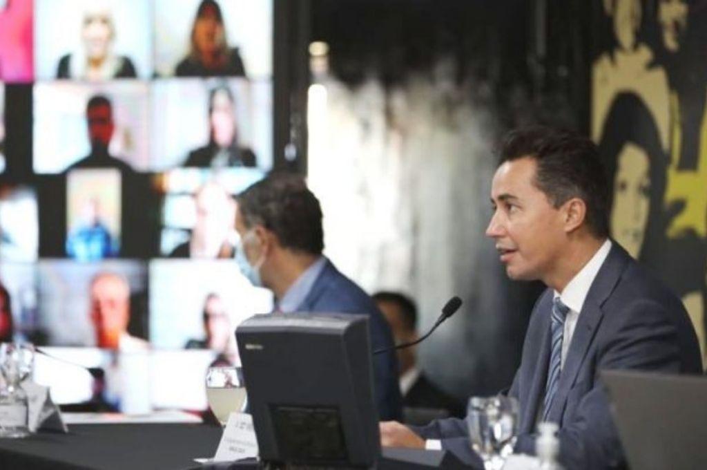 El vicegobernador Manuel Calvo se encargó de presidir la sesión. Crédito: Gentileza