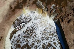 """La """"cascada"""" del Arroyo Colastine, un fenómeno natural de la región"""
