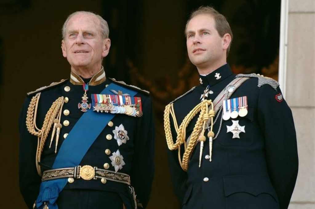 Eduardo de Essex, junto a Felipe. Crédito: Getty Images.
