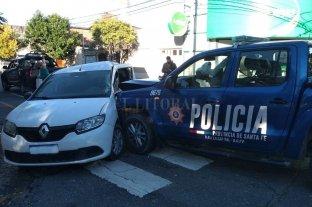 Fuerte choque en Urquiza y Uruguay -