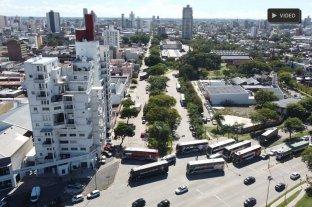Desde el drone de El Litoral: así se ve el bloqueo de transportistas en Santa Fe -
