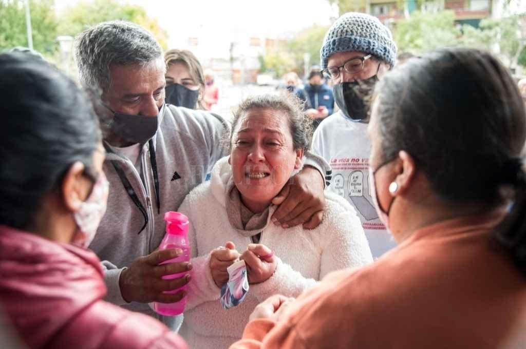 La madre de Diego C., el joven que arrolló a dos ladrones. Crédito: Marcelo Manera