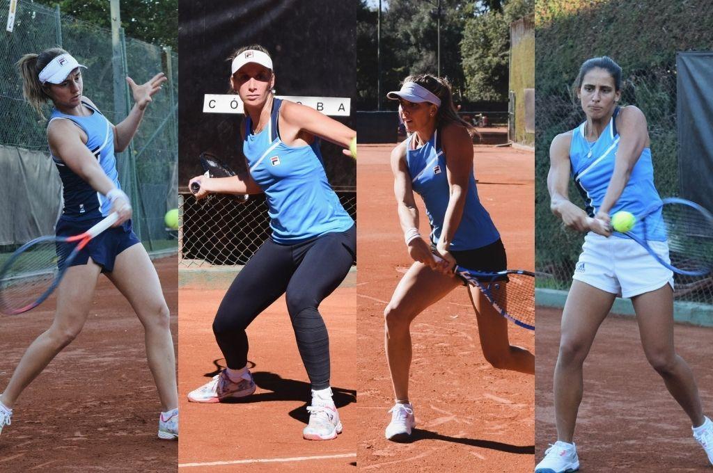 Tenis femenino: el equipo argentino entrena en Córdoba a la espera de la serie ante Kazajstán