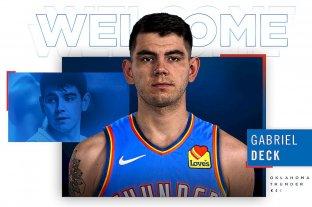 Oficial: Gabriel Deck firmó contrato con Oklahoma City Thunder por cuatro años