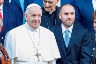El papa Francisco recibirá este miércoles al ministro de Economía Martín Guzmán