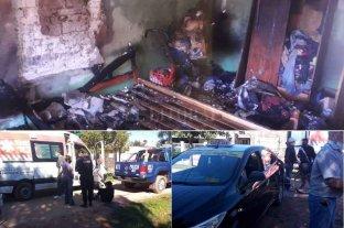 Un suceso tras otro, incendio y choque en Santa Fe
