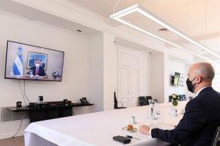 """Almuerzo """"on line"""" de Alberto con el enviado de Joe Biden"""