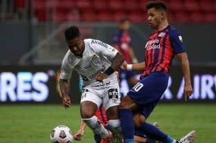 San Lorenzo empató con Santos, pero no le alcanzó y quedó eliminado de la Libertadores
