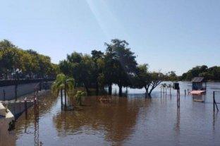 El río Gualeguaychú alcanzó los 3,10 metros y el balneario municipal quedó bajo agua