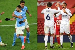 Manchester City y Real Madrid se clasificaron a las semifinales de la Champions League