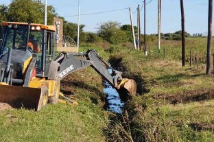 Refuerzan obras de desagüe en la zona urbana y rural de Matilde