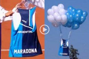 La selección de tenis femenino homenajeó a Maradona en la previa de la serie con Kazajistán