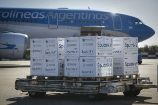 Llegaron este jueves 500 mil dosis de vacunas Sputnik V a Argentina