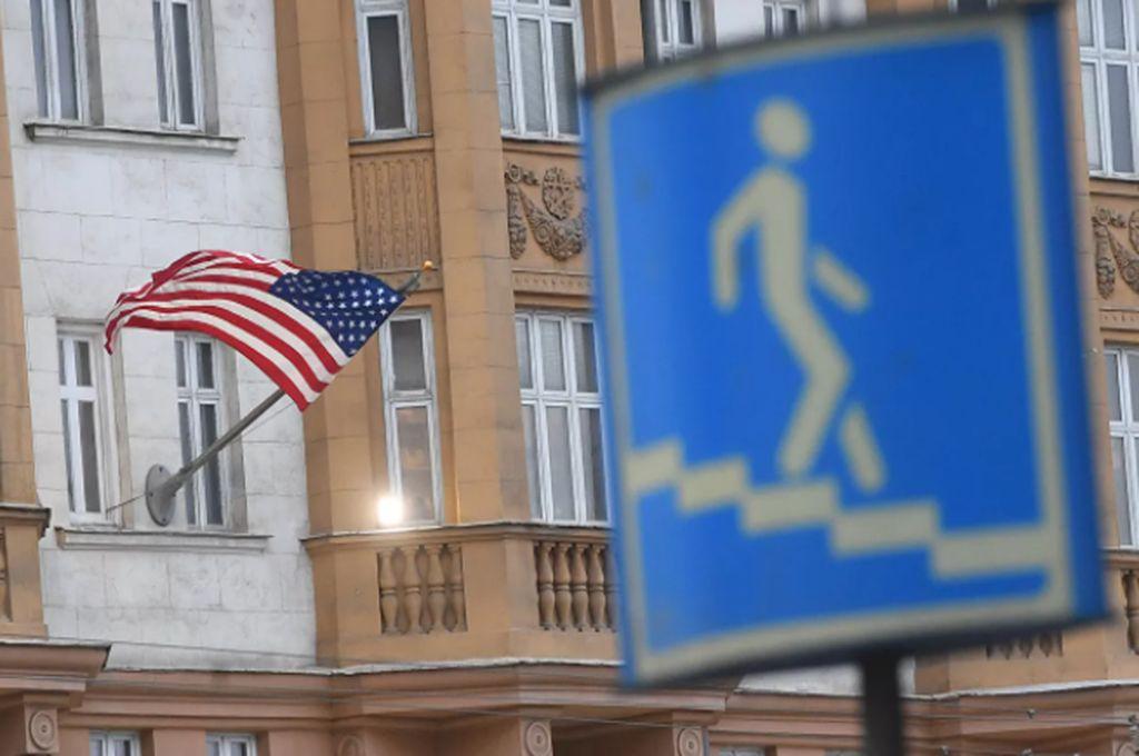 Embajada estadounidense en Moscú Crédito: Sputnik