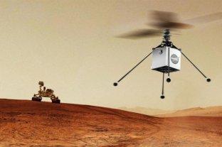 Este lunes la NASA enviaría un helicóptero a Marte