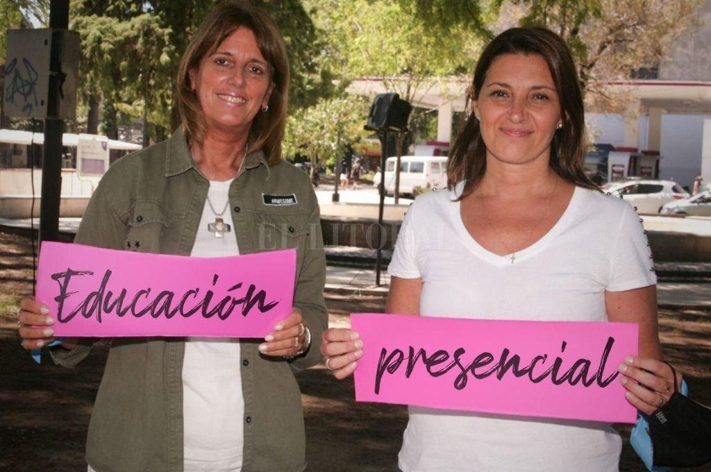 Cattena y Florito expusieron las razones del respaldo a la presencialidad Crédito: Somos Vida Santa Fe.