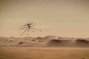 El helicóptero Ingenuity vuela por primera vez en Marte