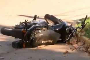 Rosario: robó, escapó en moto y terminó fracturado tras un choque