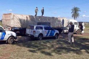 Prefectura decomisó 40 toneladas de soja y maíz ilegal en Corrientes