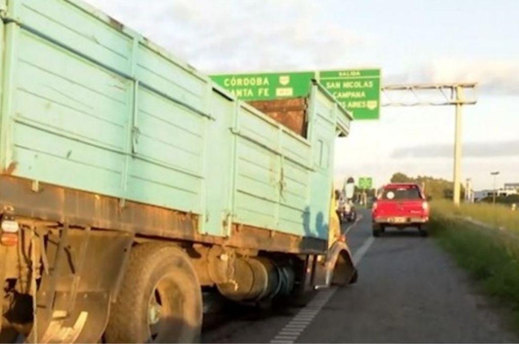 El camión protagonista del accidente. Crédito: Gentileza