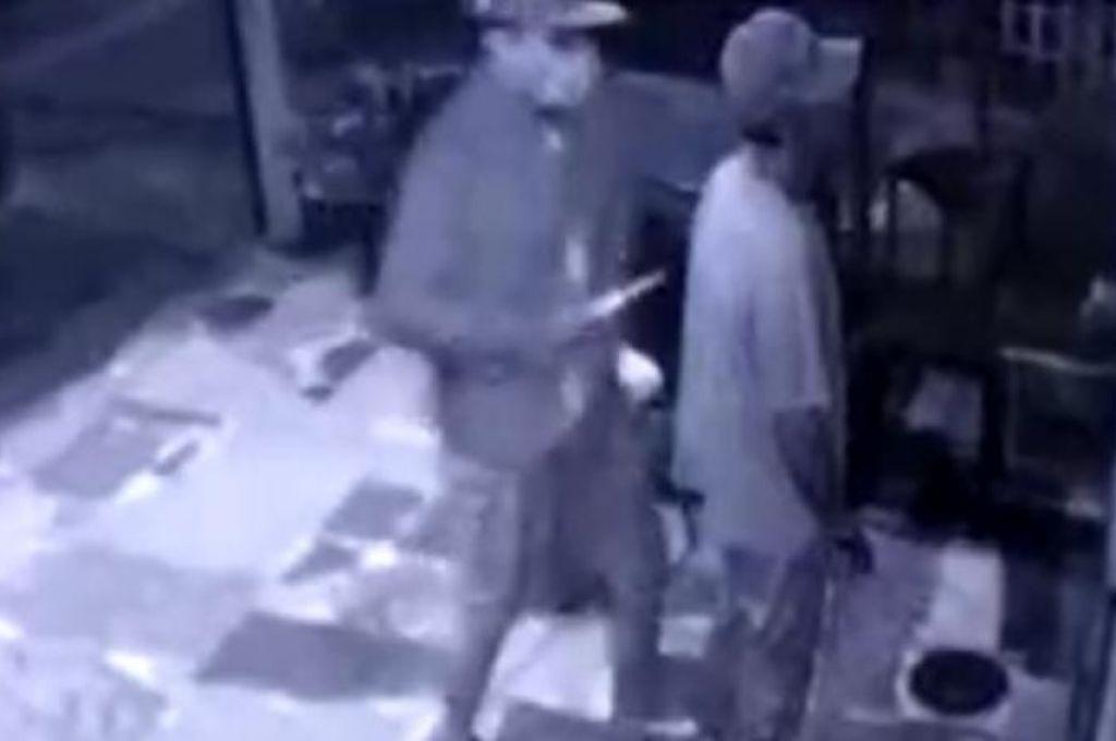 Captura del video brindado por las cámaras de seguridad. Crédito: Gentileza