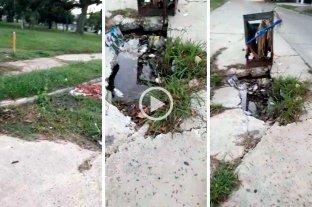 Alerta: peligroso pozo en cercanías al Parque Garay