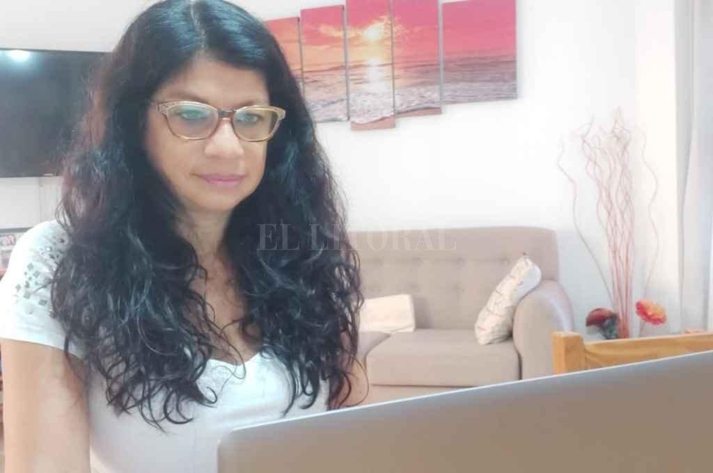 Gabriela Solano en la reunión virtual realizada este martes. Crédito: Prensa Gabriela Solano.