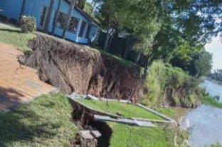 Alejandro Fantino mostró angustiado en su programa el derrumbe de parte de su casa en Sauce Viejo