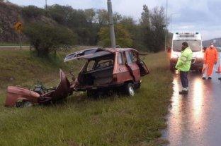 Murió tras chocar con un poste en la Autopista Córdoba-Carlos Paz