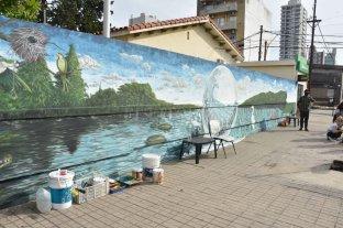 Pintaron un mural del ecosistema litoraleño para concientizar el ambiente