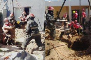 Córdoba: rescataron a un albañil que cayó en un pozo de 25 metros