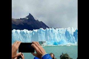 Video: impresionante desprendimiento de base en el Glaciar Perito Moreno