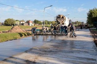Completaron la pavimentación en barrio Escalada de San Lorenzo
