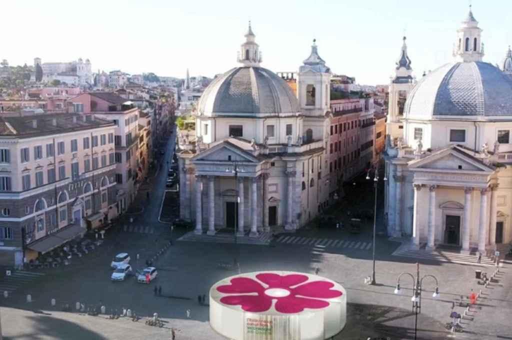 Una flor, el símbolo de Italia para una campaña de vacunación que haga renacer al país Crédito: Gentileza