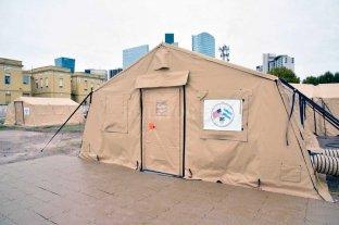 El hospital de campaña que llega a Santa Fe fue donado por Estados Unidos
