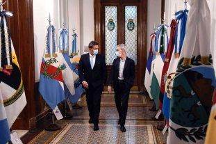 Sergio Massa estuvo presente en el velatorio del ministro Meoni