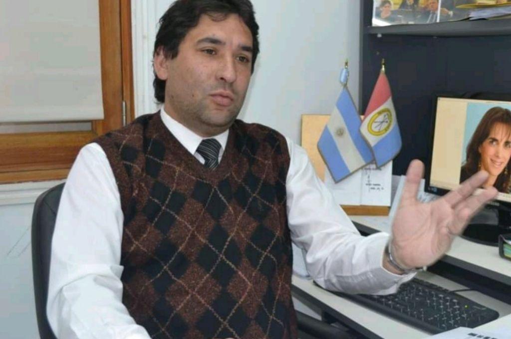 El Presidente del F.I.D.R. Santa Fe, Carlos Clemente Crédito: Gentileza