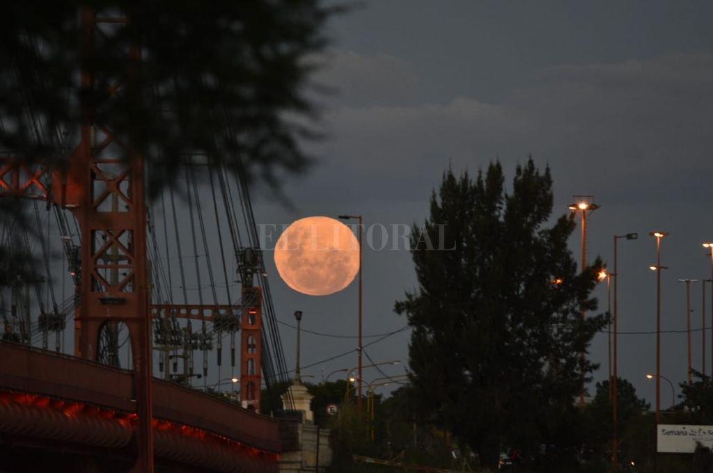 Así se vio el eclipse lunar desde La Pampa