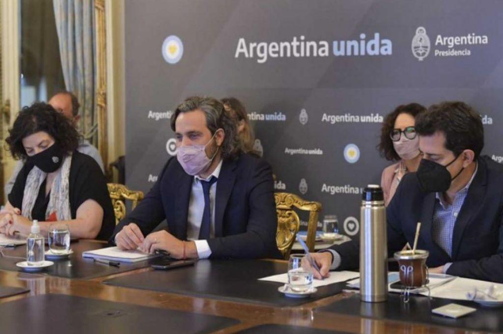 Santiago Cafiero, Carla Vizzotti y Eduardo