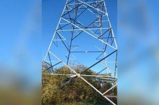 Vandalizaron una torre de alta tensión en Santo Tomé