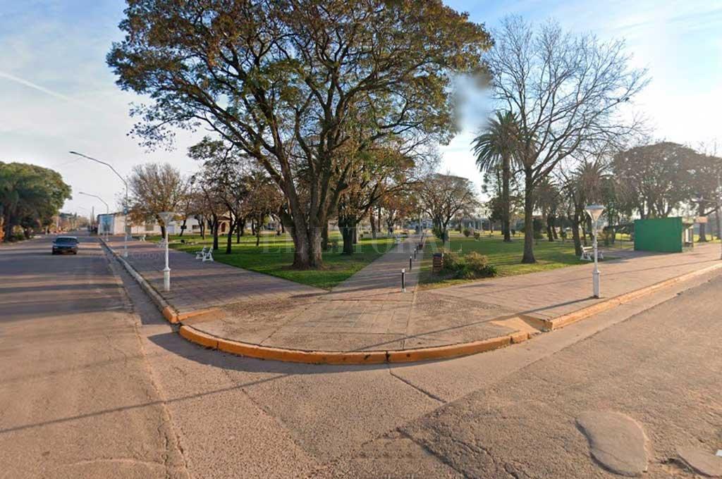 La plaza central de General Campos. Crédito: Captura de Pantalla - Google Street View