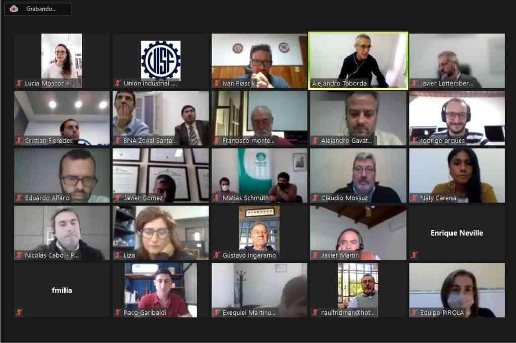 El encuentro del Foro se desarrolló de manera virtual. Crédito: Uniòn Industrial de Santa Fe