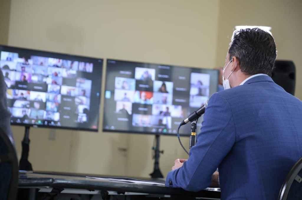 Reunión virtual en Córdoba para decidir las nuevas restricciones. Crédito: Gentileza