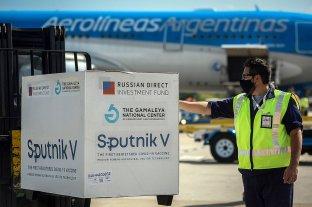 Llegaron otras 765.545 dosis de la vacuna Sputnik V desde Moscú