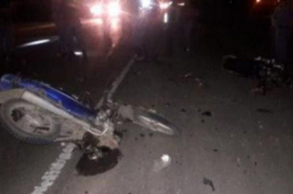 Así quedó la motocicleta en la que circulaba la víctima fatal. Crédito: Gentileza