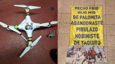 Así quedó el dron de Rosario Central