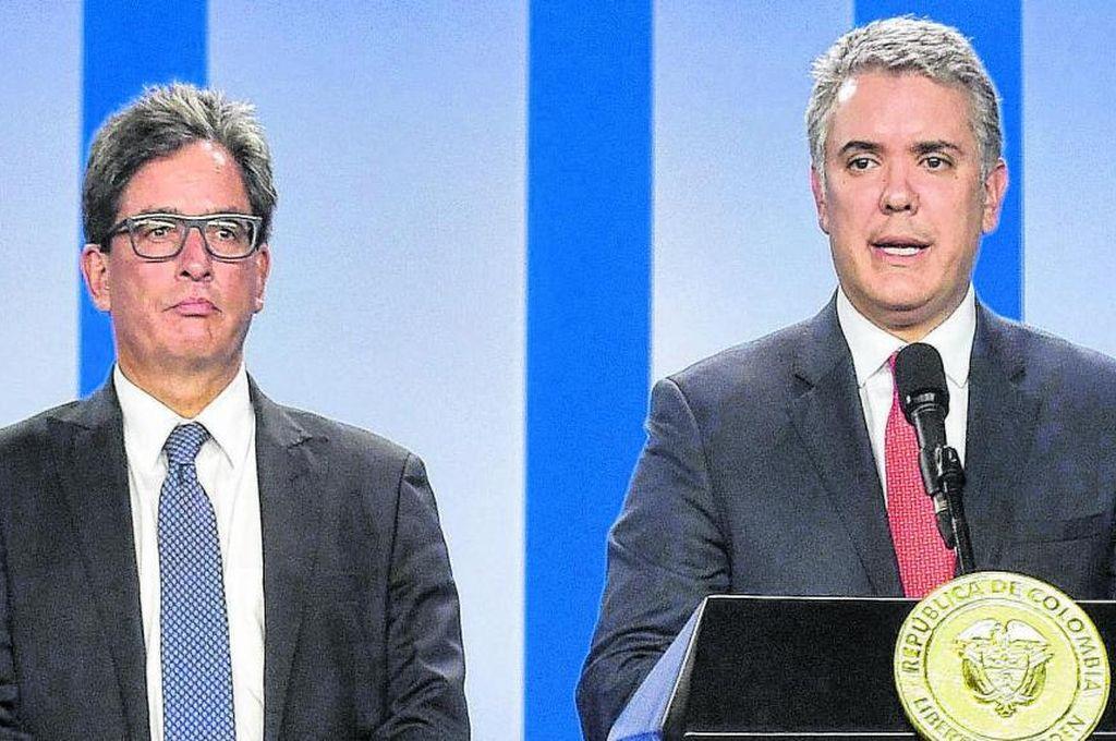 Iván Duque y Alberto Carrasquilla, imagen de archivo Crédito: Captura de pantalla
