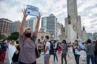 Video: rosarinos se manifestaron para pedir la apertura de escuelas